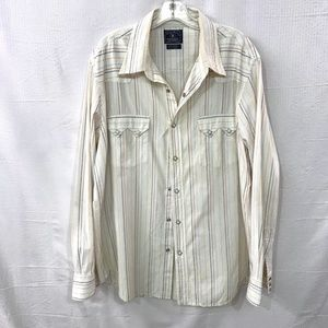 Lucky Brand Striped Long Sleeve Button Down